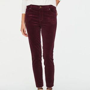 loft oxblood modern skinny corduroy pants